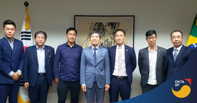 Diretoria da OKTA SP visita Cônsul-geral da Coreia